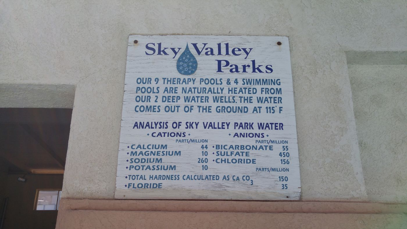 Sky Valley Mineral Chart