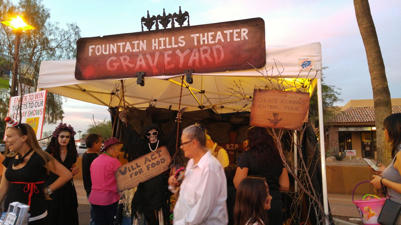 Halloween on the Hill Fountain Hills Fountain Graveyard