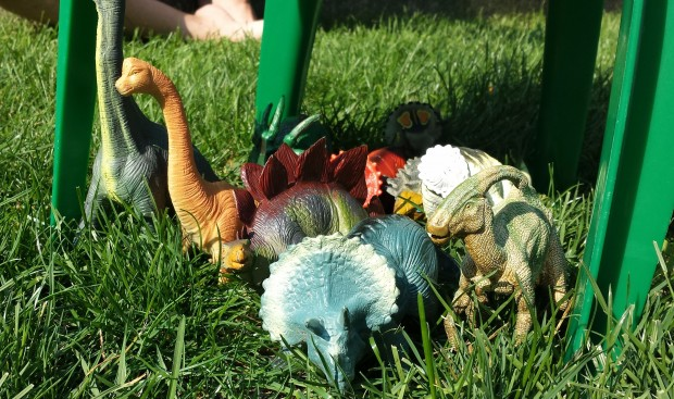 Dinosaurs on holiday.