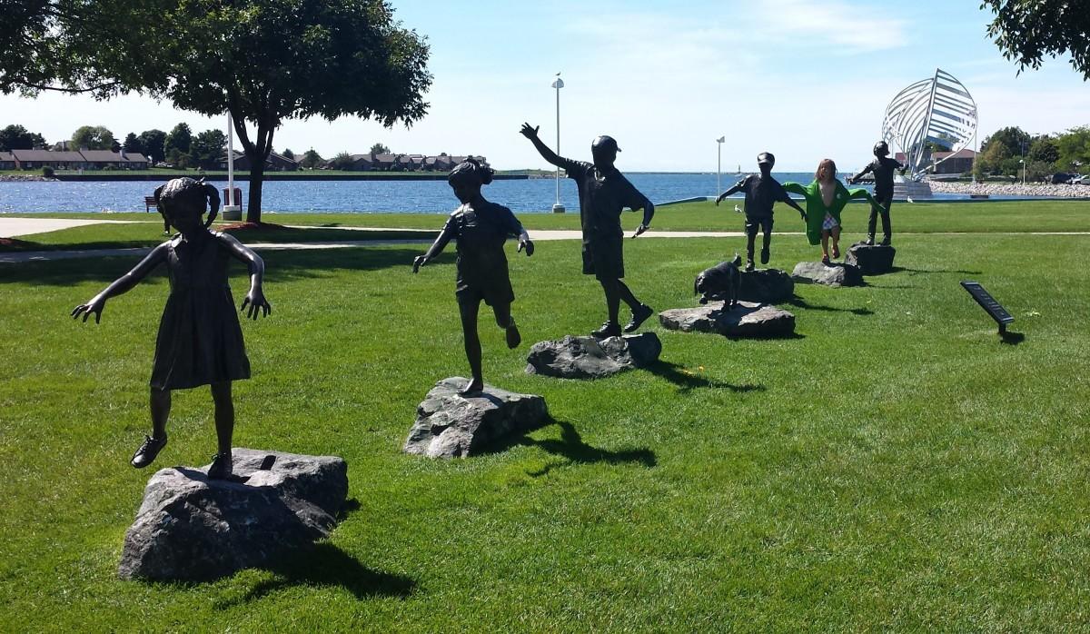 Waterfront Park and Sculptures, Ludington, MI