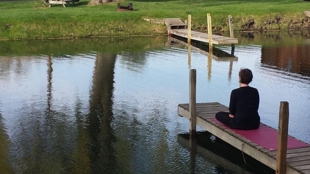 Meditating in Manistee