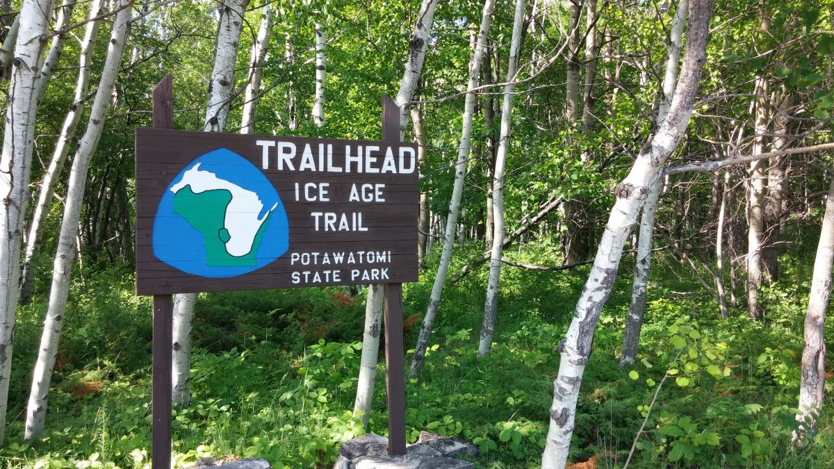 hiking in the potawatomi state forest Ice Age Trail