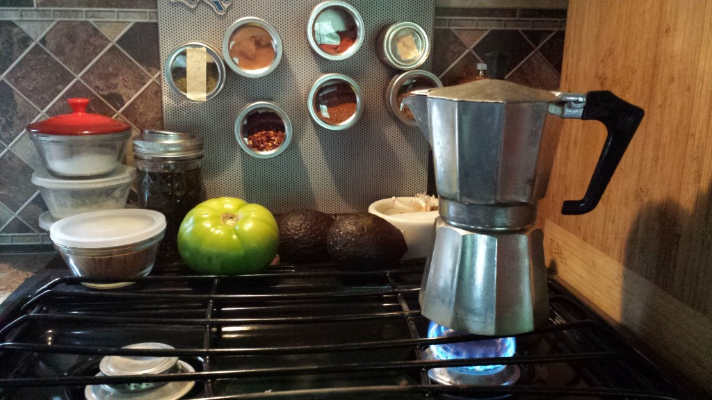 Our Coffee Source: the Moka Pot.