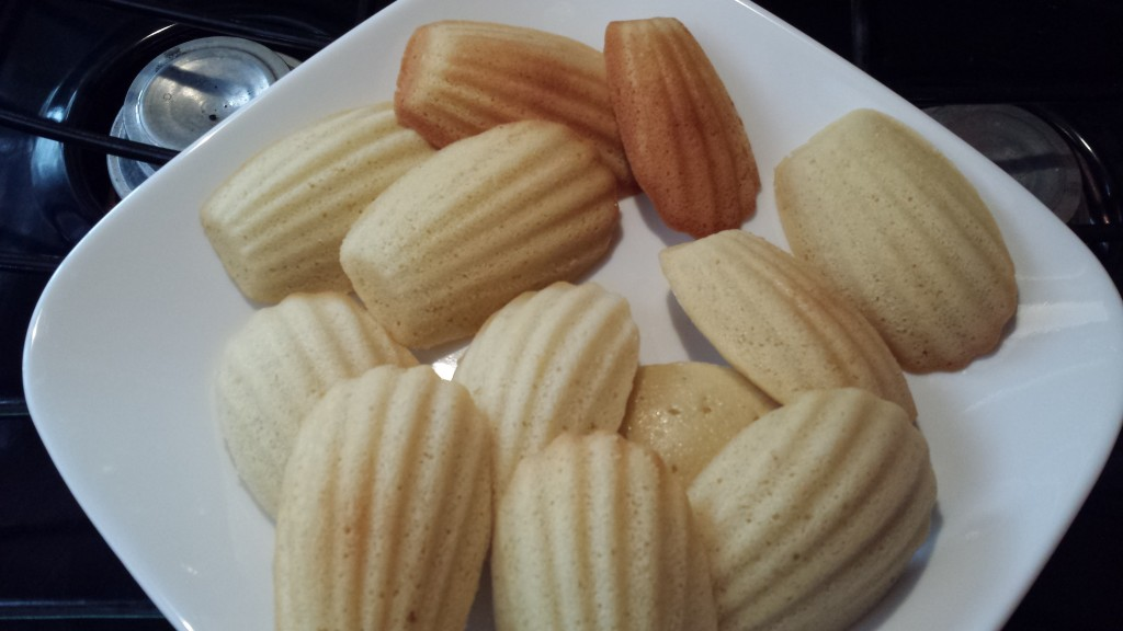 Delicious Madeleines. You Can See which Two Baked over the Filament.