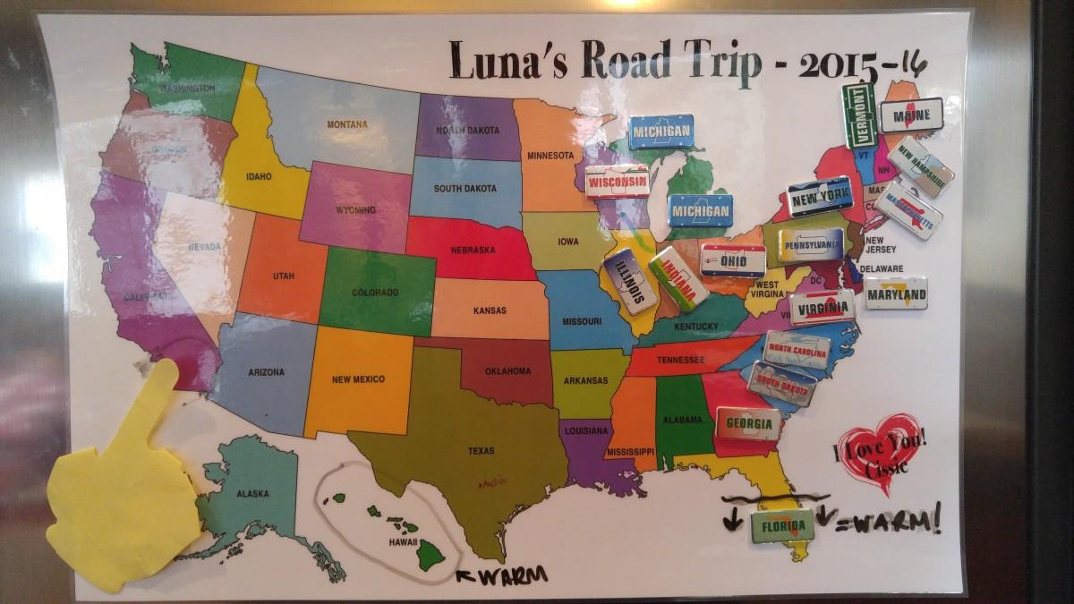 Roadtrip Map. Fermenting in Florida.