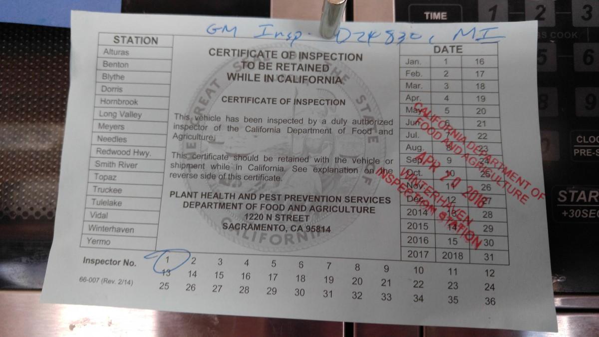 fruit certificate
