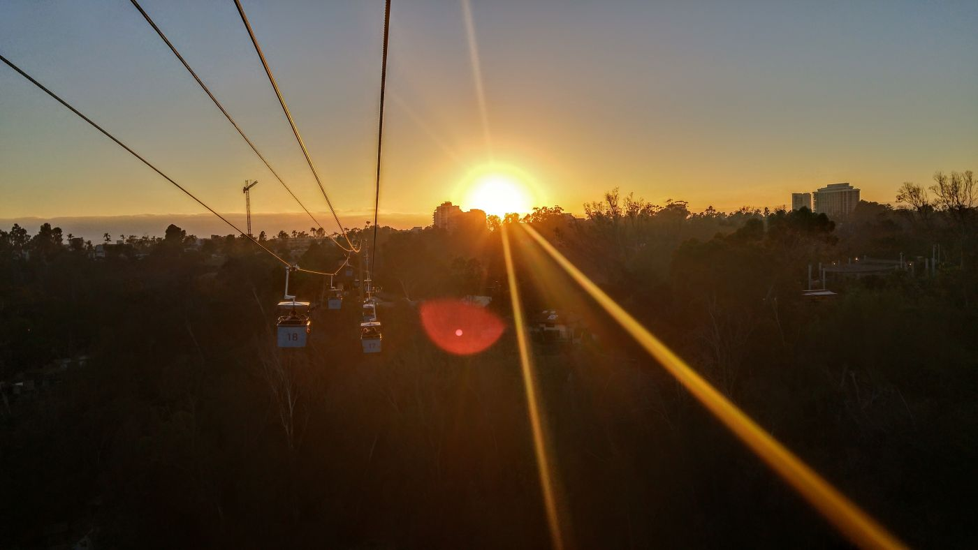 San Diego Zoo Gondola Sunset