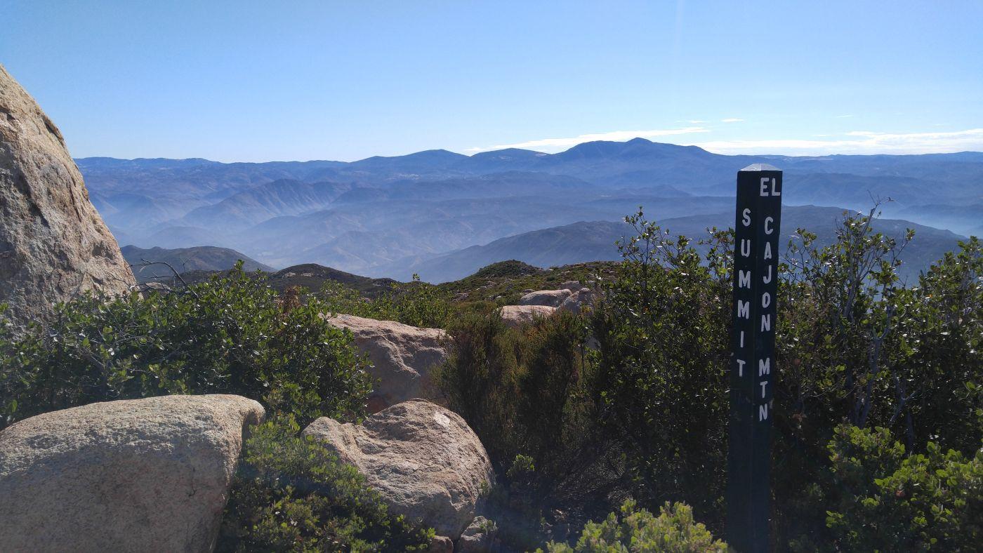 El Cajon Mountain Summit