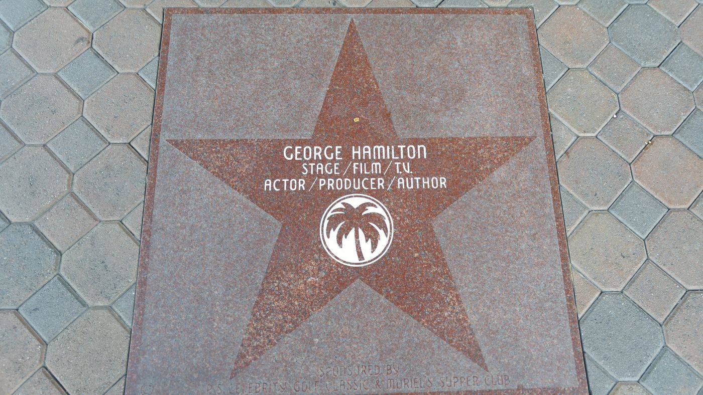 George Hamilton Star Palm Springs