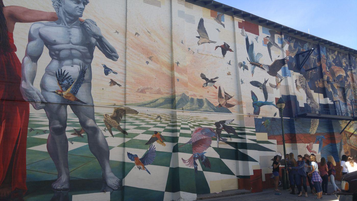 girls mural Flagstaff