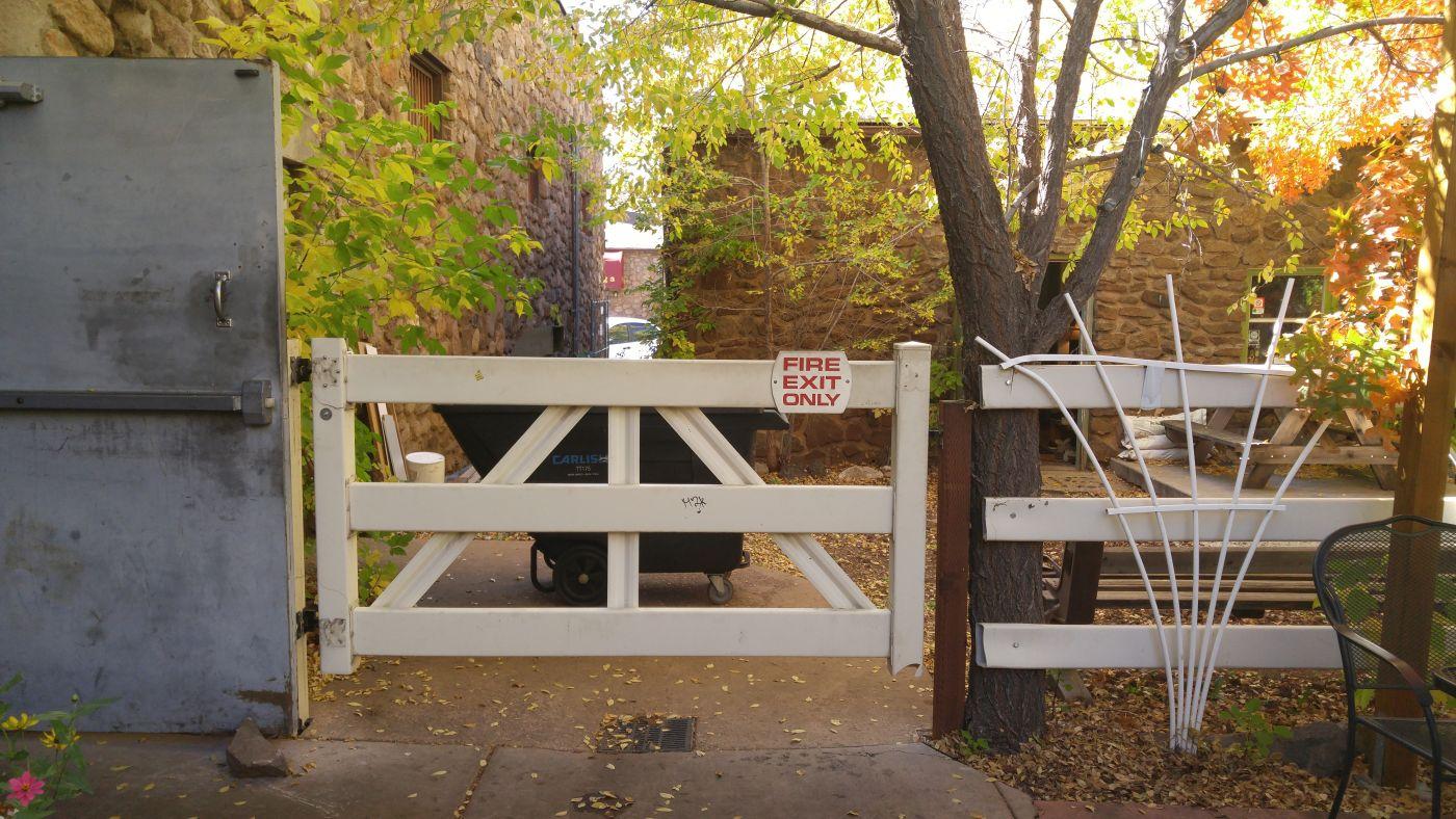 Beaver Street Brewery back door