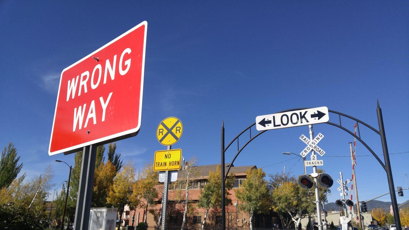 train signs Flagstaff