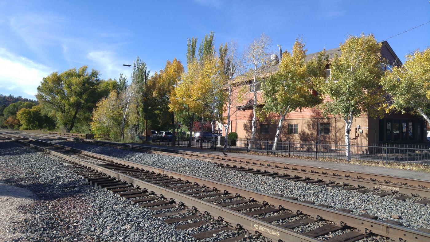 Flagstaff railroad tracks route 66