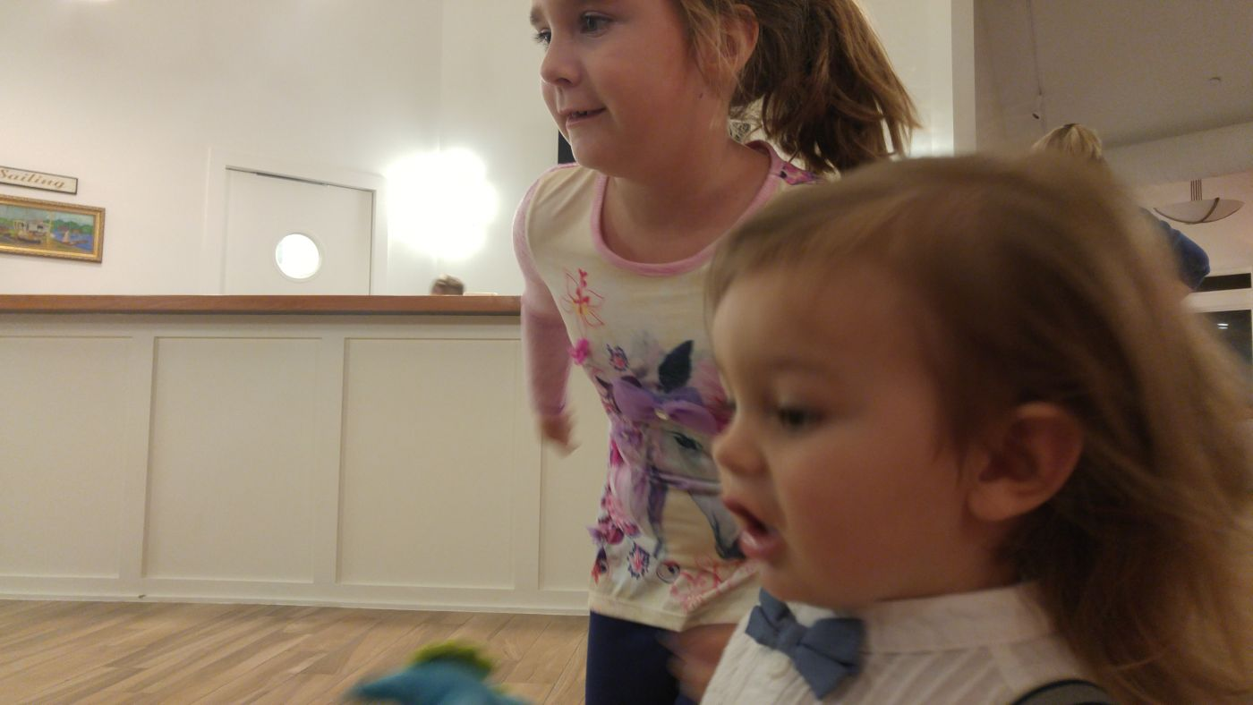 Two kids wedding dancing