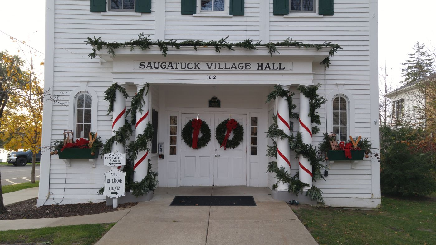 Saugatuck Town Hall Christmas