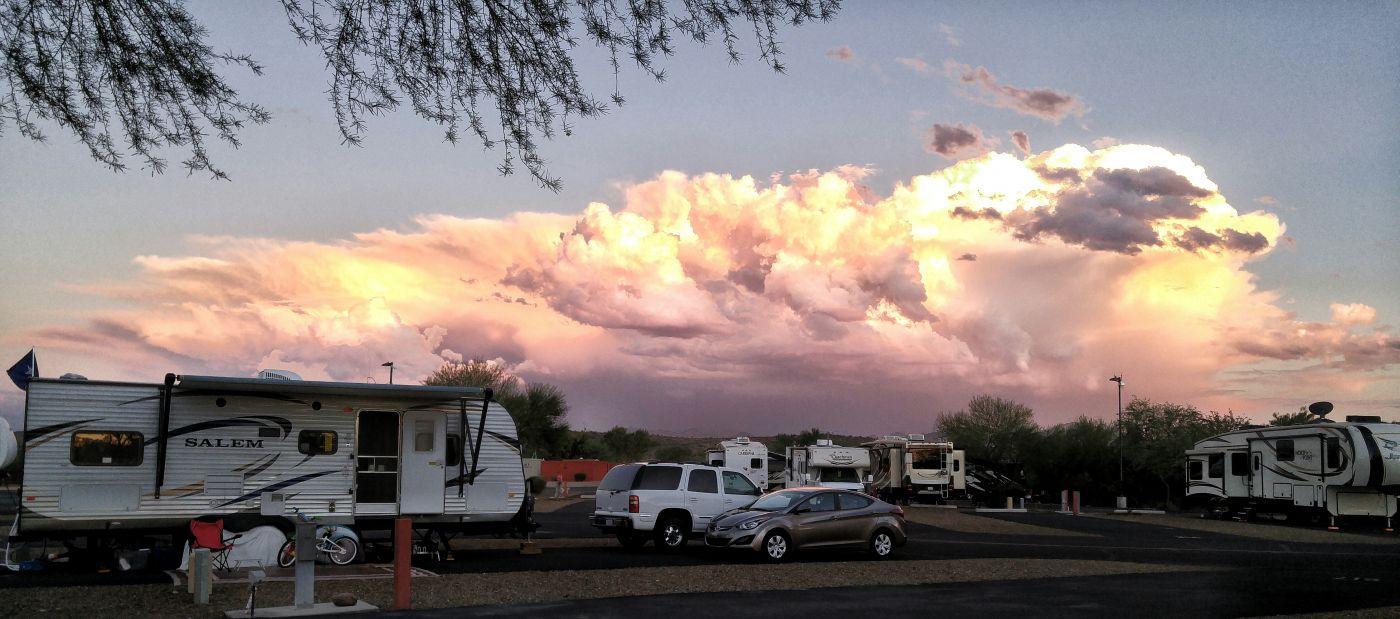 Monsoon cloud Fort McDowell