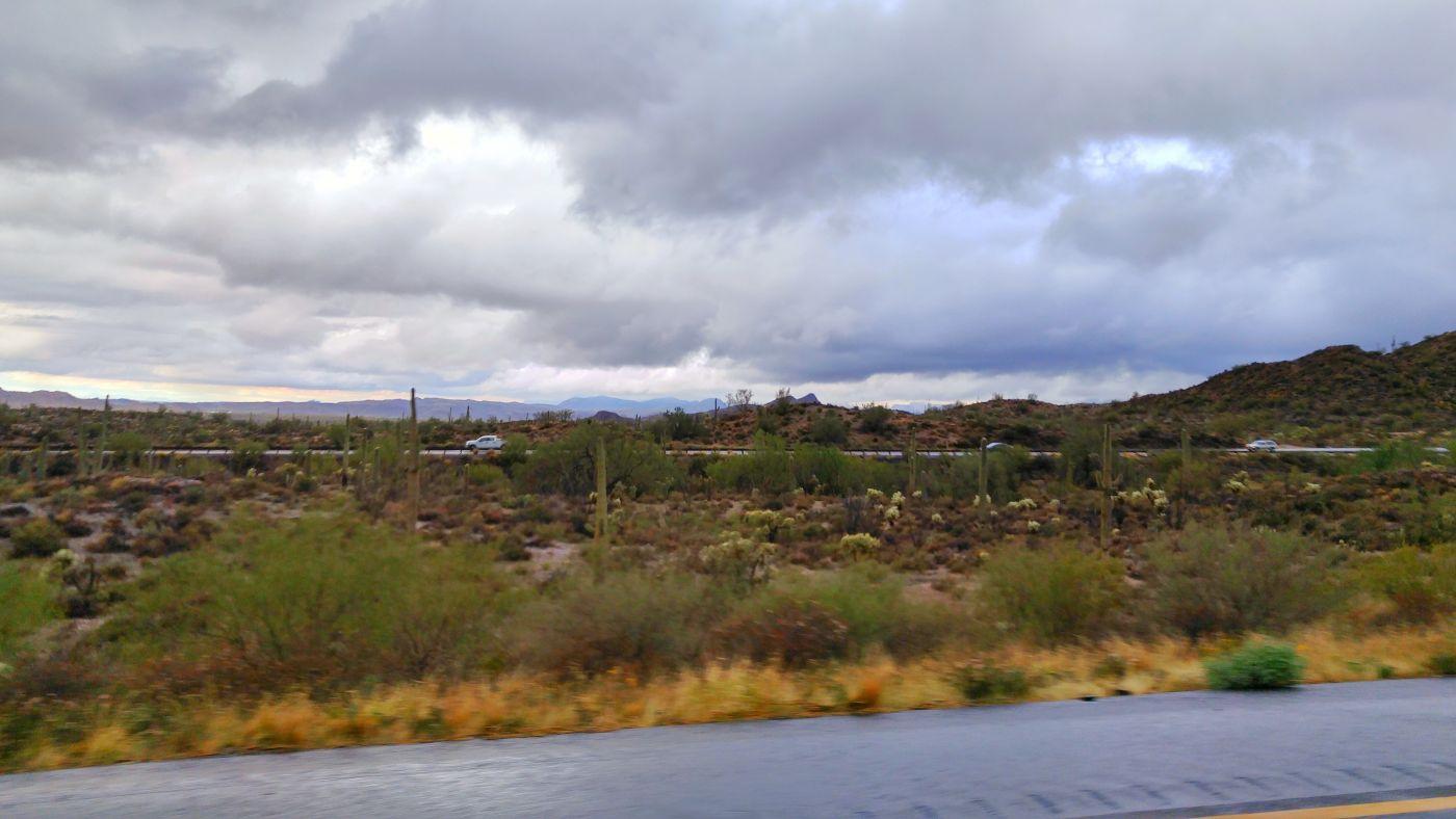 Hwy 60 Arizona desert rain