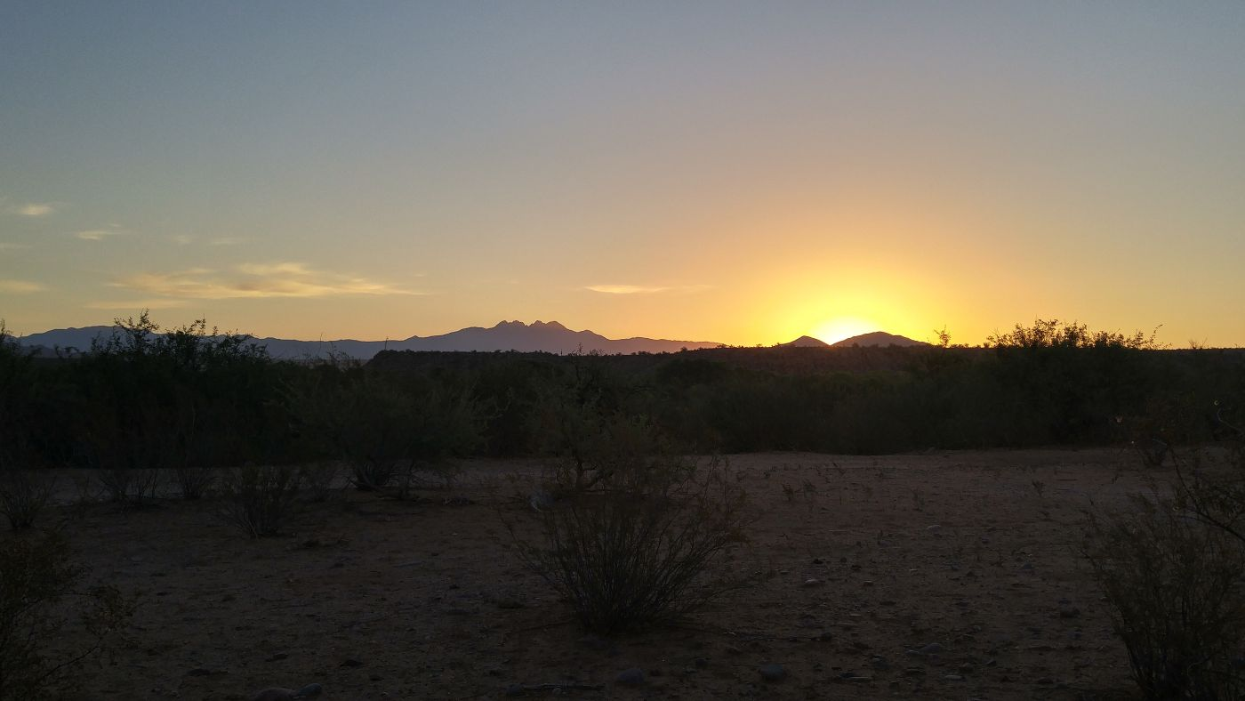 Sunrise Fort McDowell Four Peaks