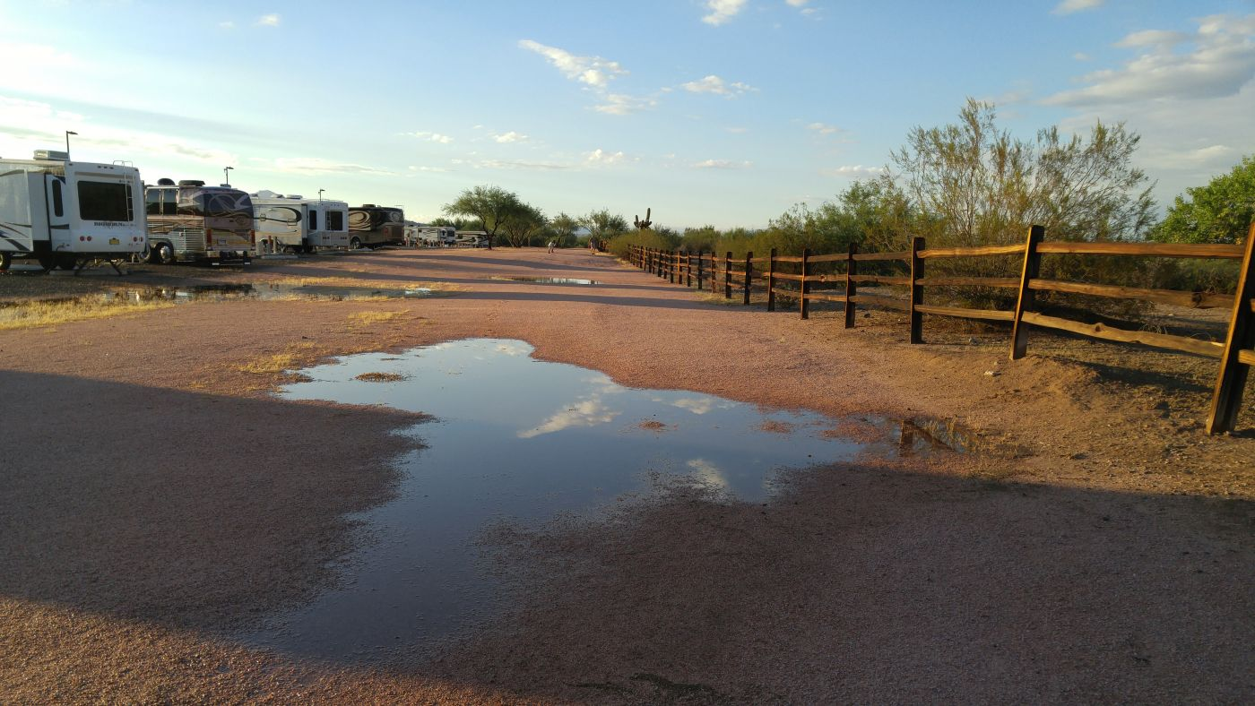 Rain puddle Fort McDowell