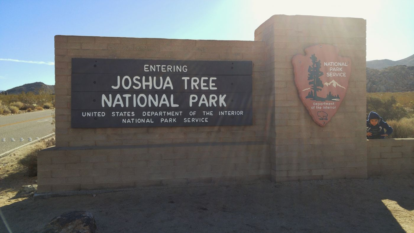 Joshua Tree National Park entrance north